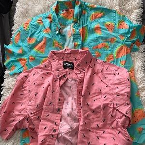 Watermelon and toucan button down bundle